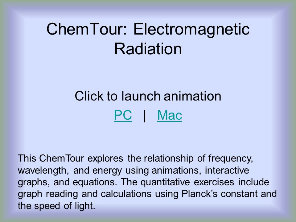 ChemTour: Electromagnetic Radiation