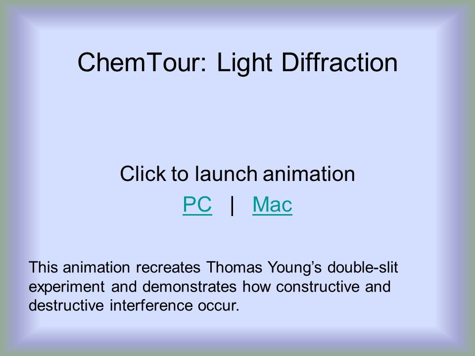 ChemTour: Light Diffraction