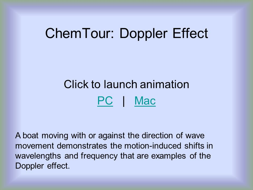 ChemTour: Doppler Effect