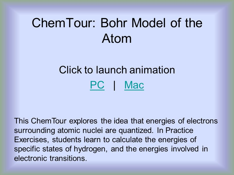 ChemTour: Bohr Model of the Atom