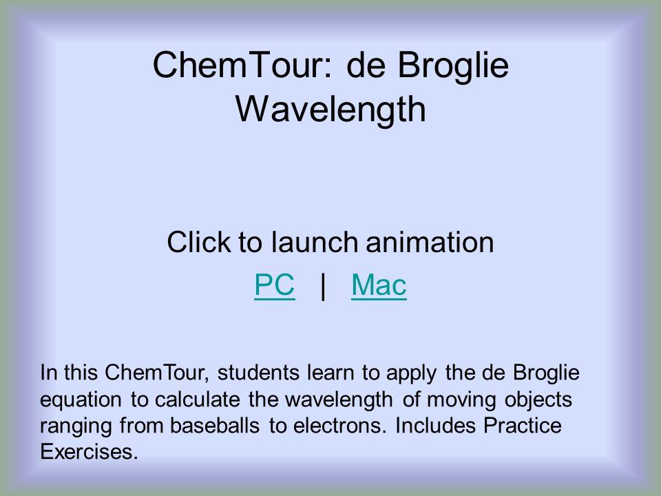 ChemTour: de Broglie Wavelength
