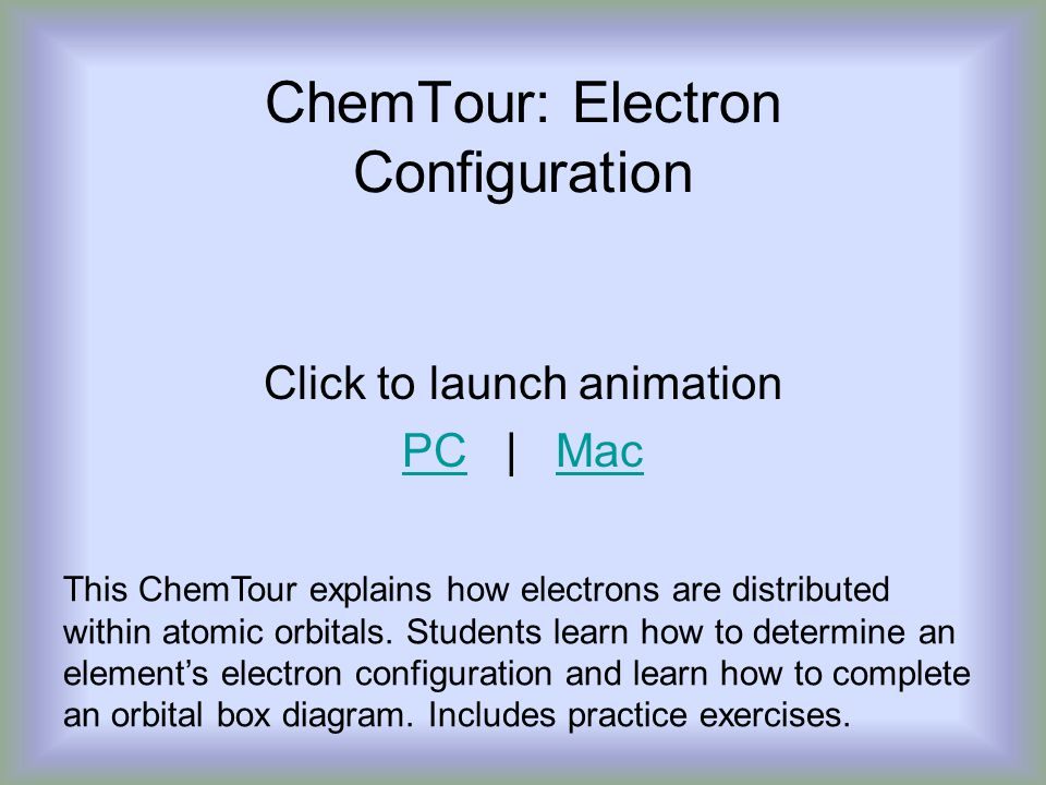ChemTour: Electron Configuration