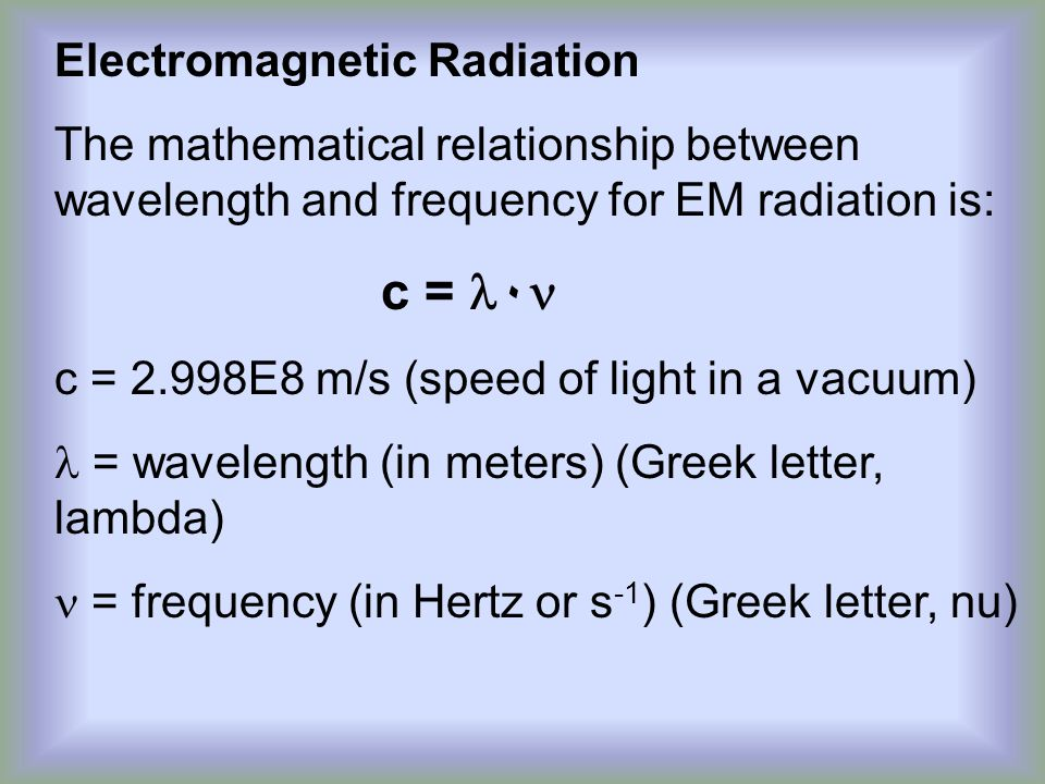 what is the mathematical relationship between energy frequency and wavelength