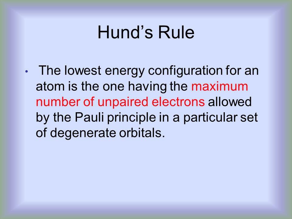 Hund's Rule