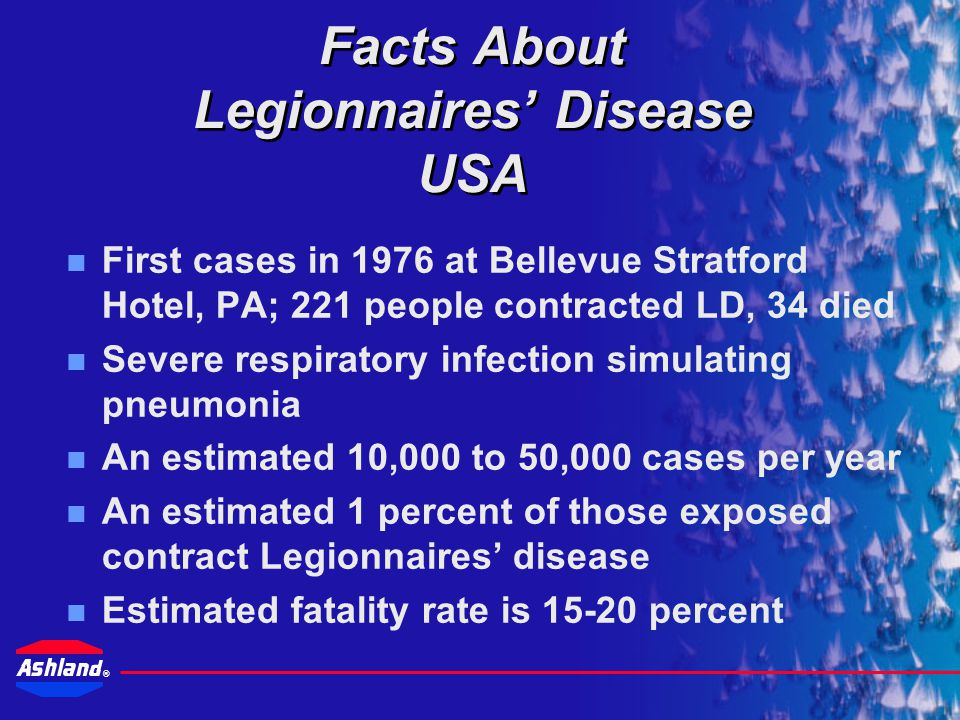 Facts About Legionnaires' Disease USA