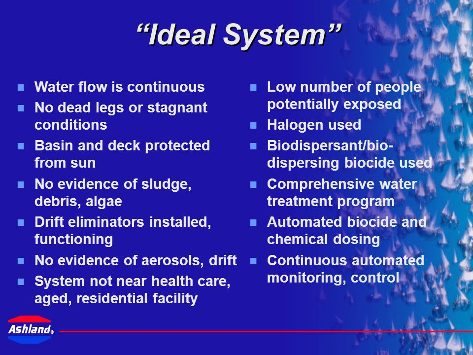 Ideal System Water flow is continuous