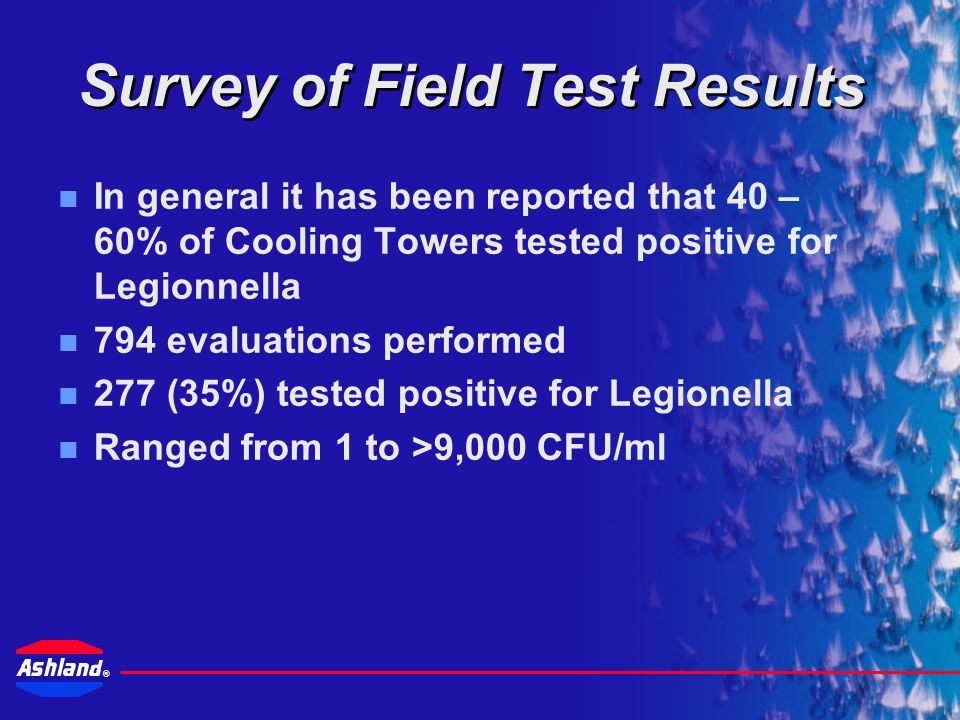 Survey of Field Test Results