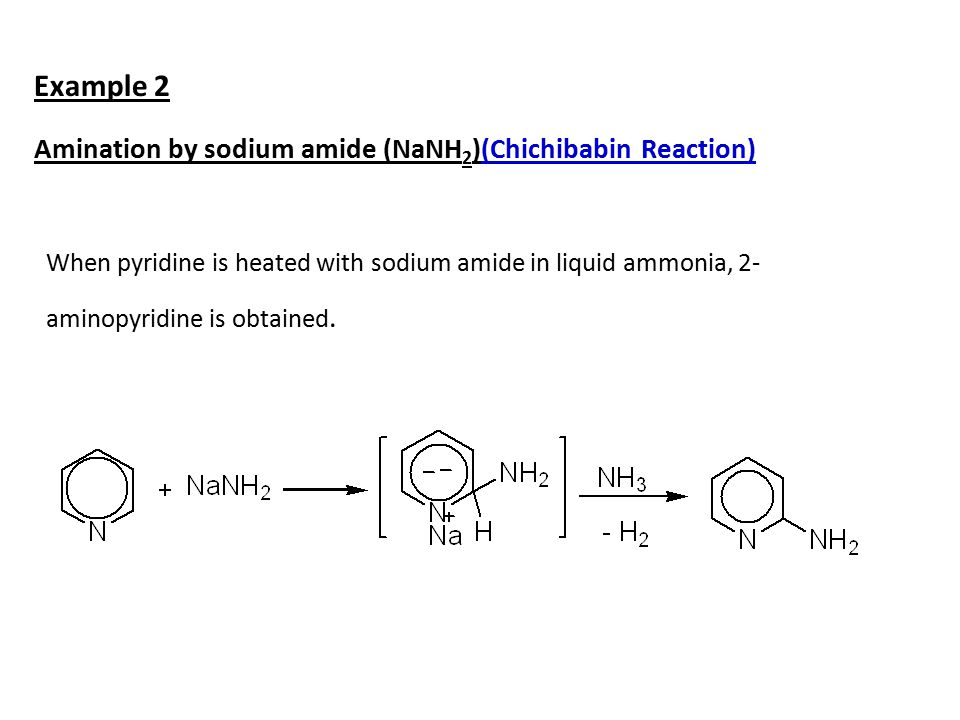 Example 2 Amination by sodium amide (NaNH2)(Chichibabin Reaction)