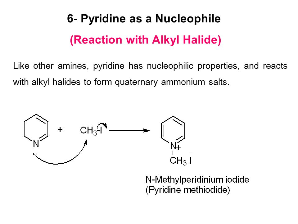6- Pyridine as a Nucleophile (Reaction with Alkyl Halide)