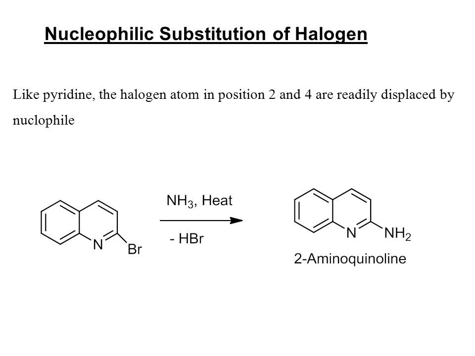Nucleophilic Substitution of Halogen