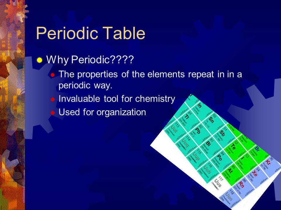 Periodic Table Why Periodic