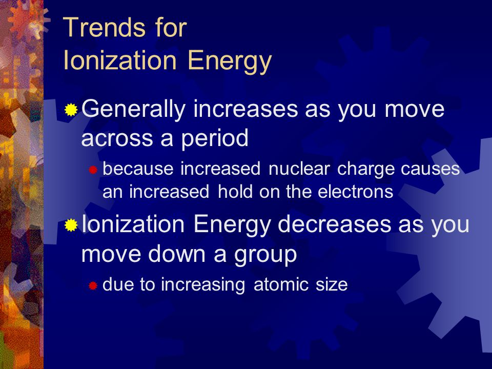 Trends for Ionization Energy