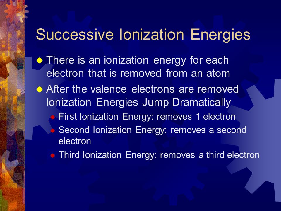 Successive Ionization Energies