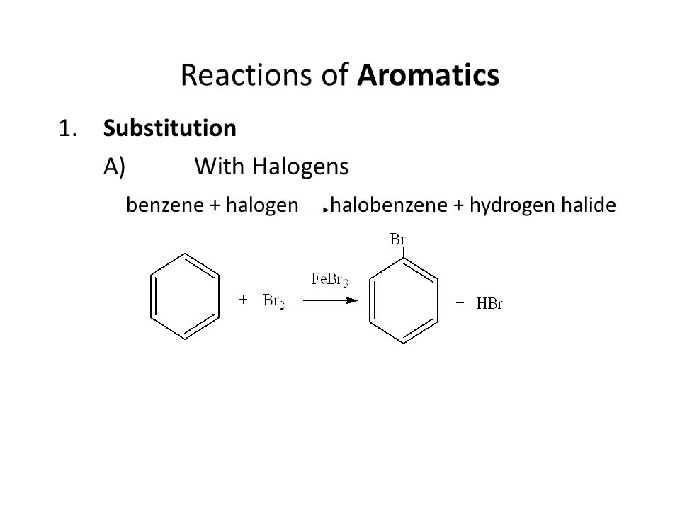 Reactions of Aromatics