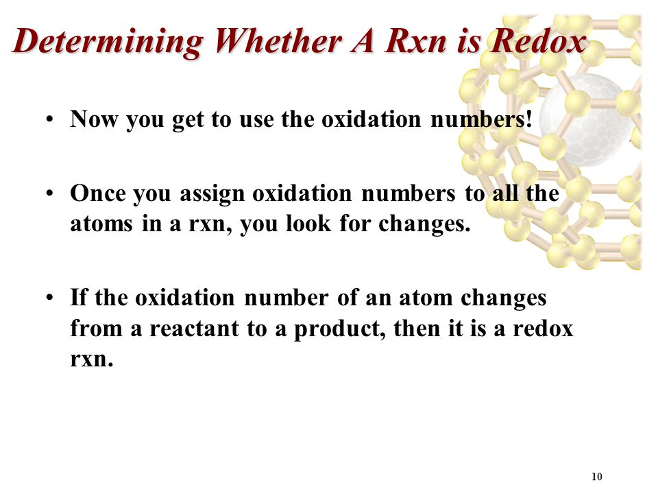 Determining Whether A Rxn is Redox
