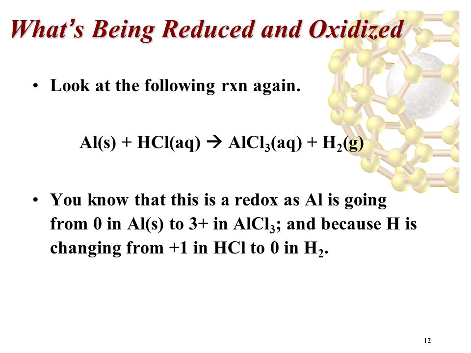 What's Being Reduced and Oxidized