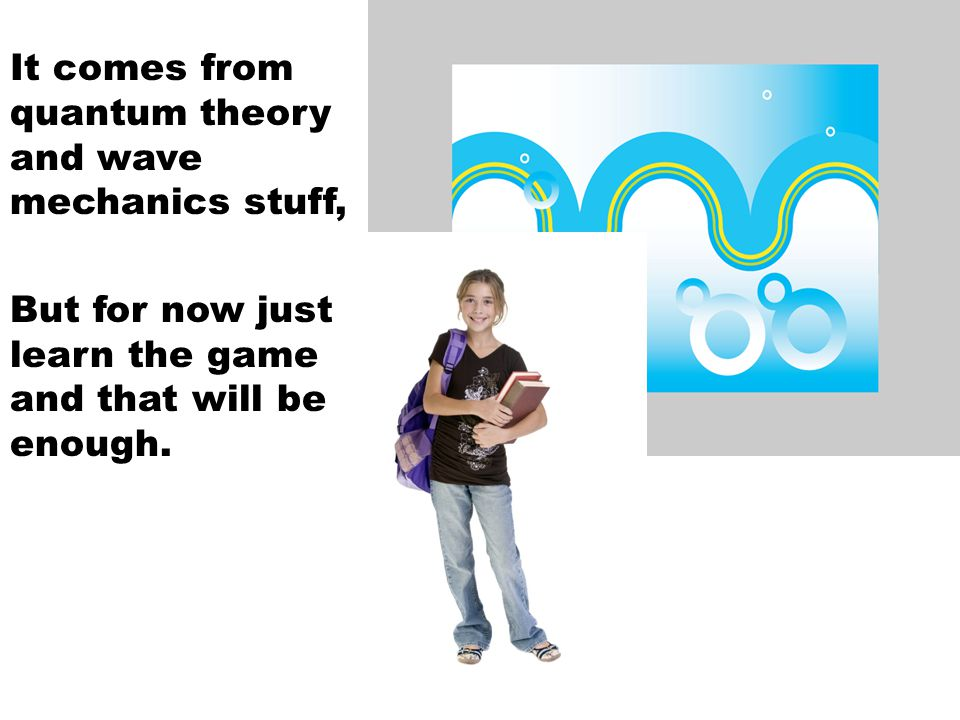 It comes from quantum theory and wave mechanics stuff,