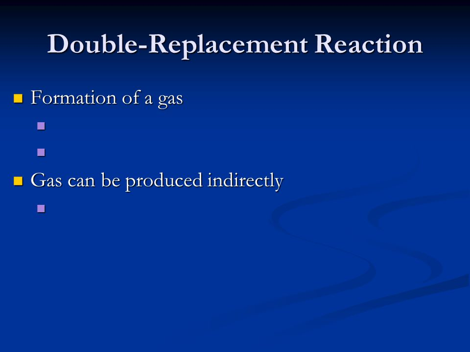 Double-Replacement Reaction