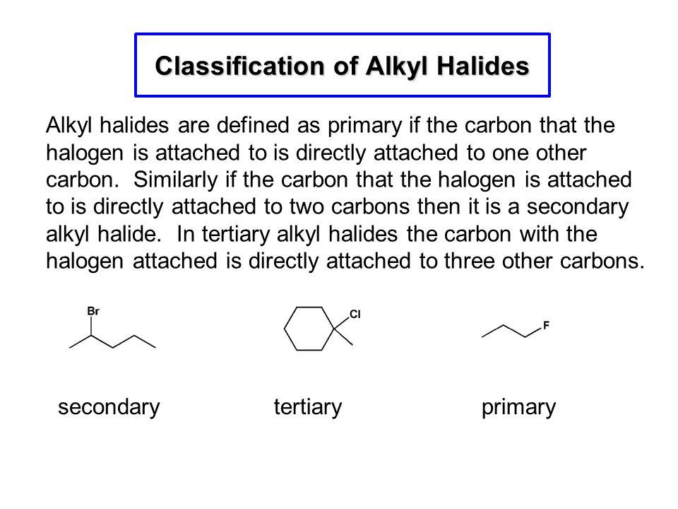 Classification of Alkyl Halides