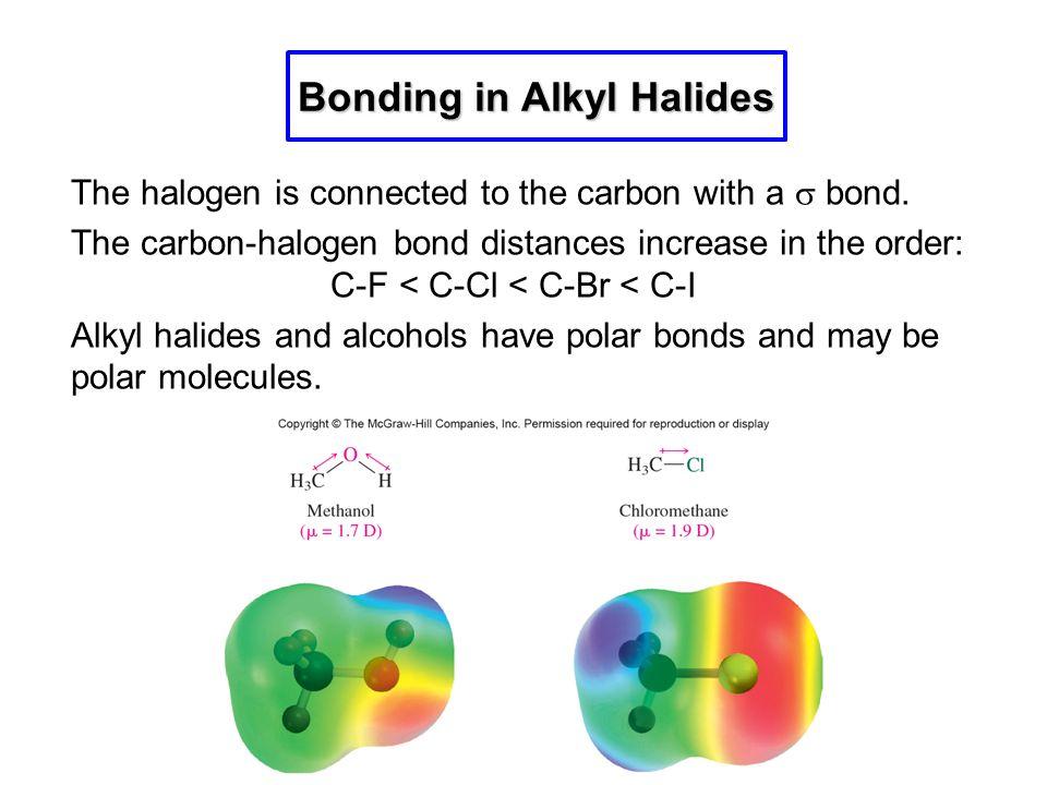 Bonding in Alkyl Halides