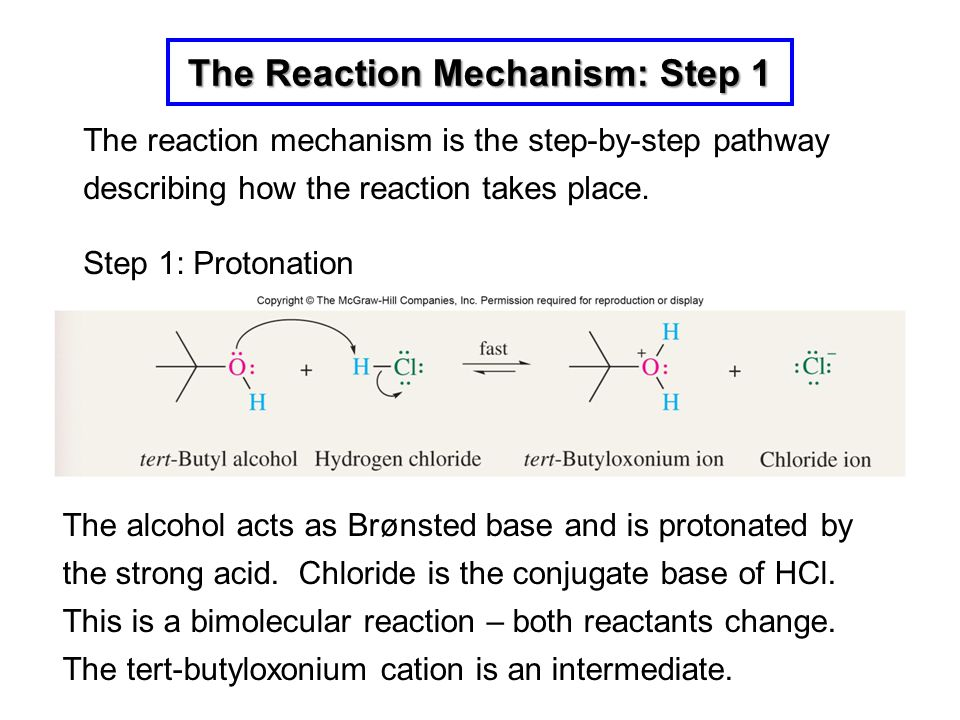 The Reaction Mechanism: Step 1