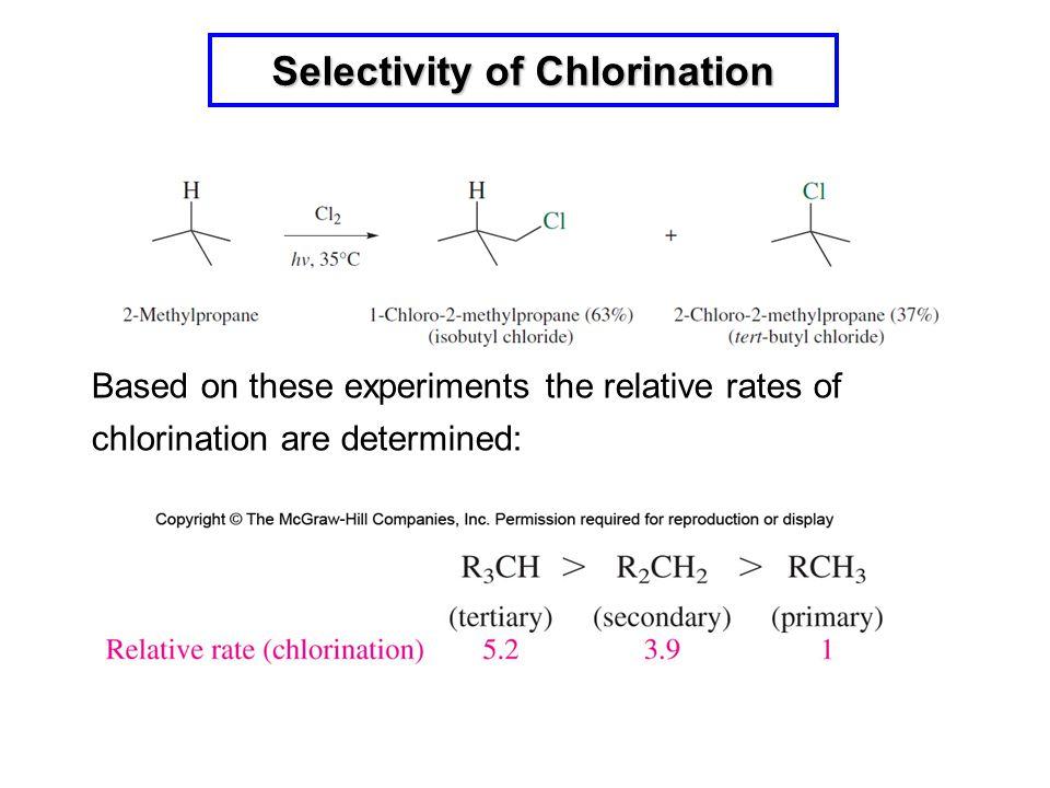 Selectivity of Chlorination