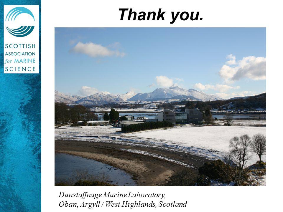 Thank you. Dunstaffnage Marine Laboratory,