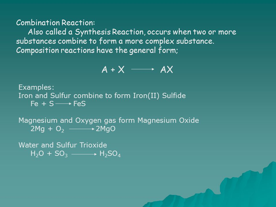 Combination Reaction: