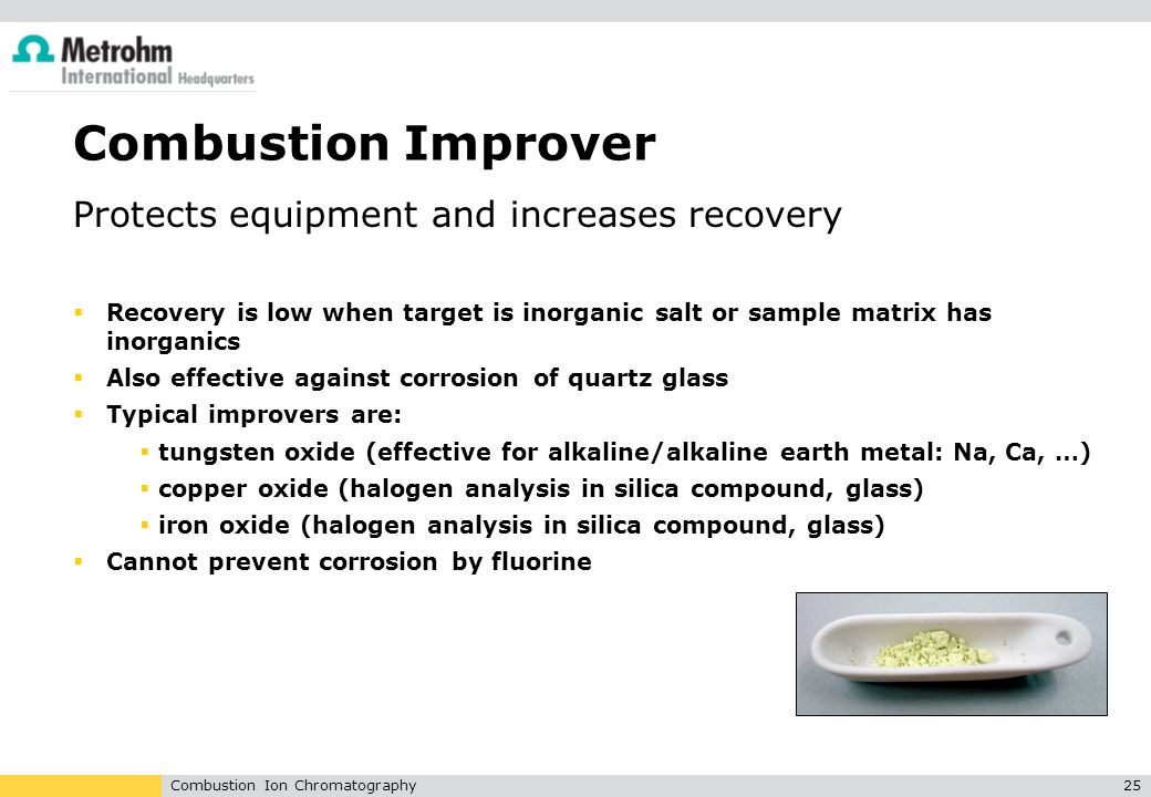 Combustion Improver Protects equipment and increases recovery