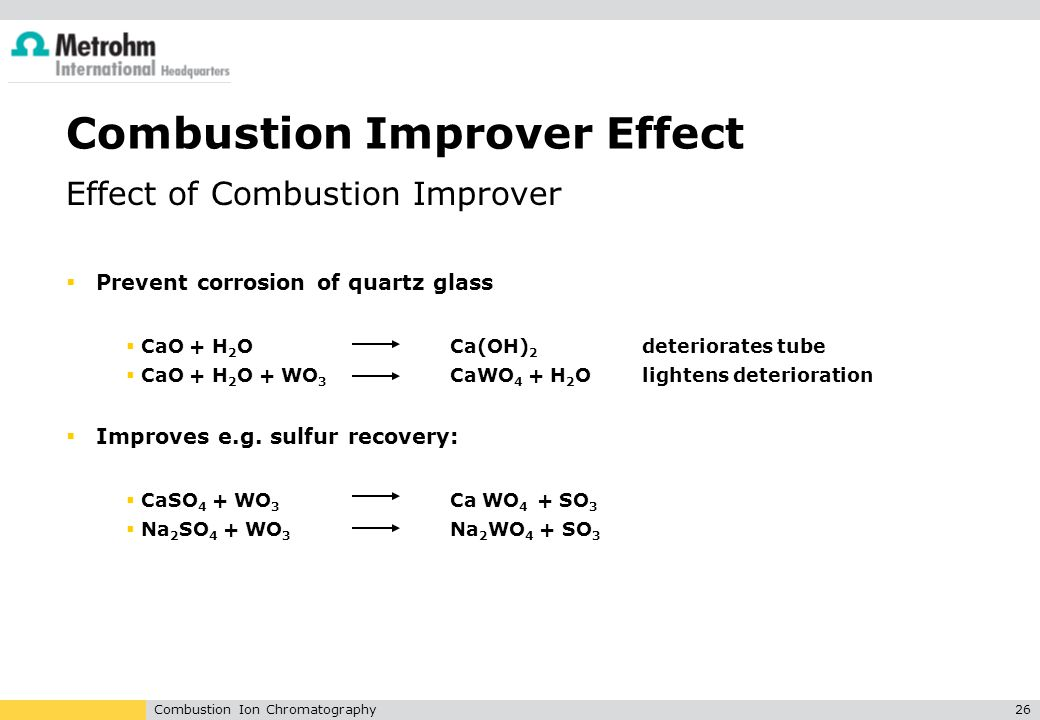 Combustion Improver Effect