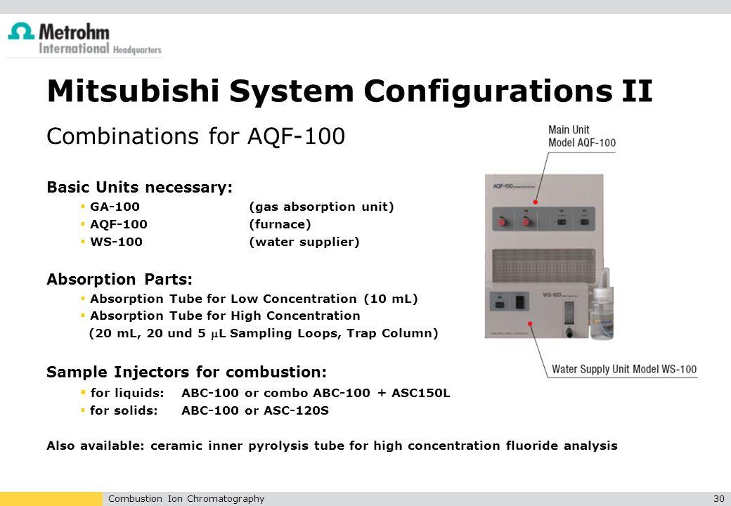 Mitsubishi System Configurations II