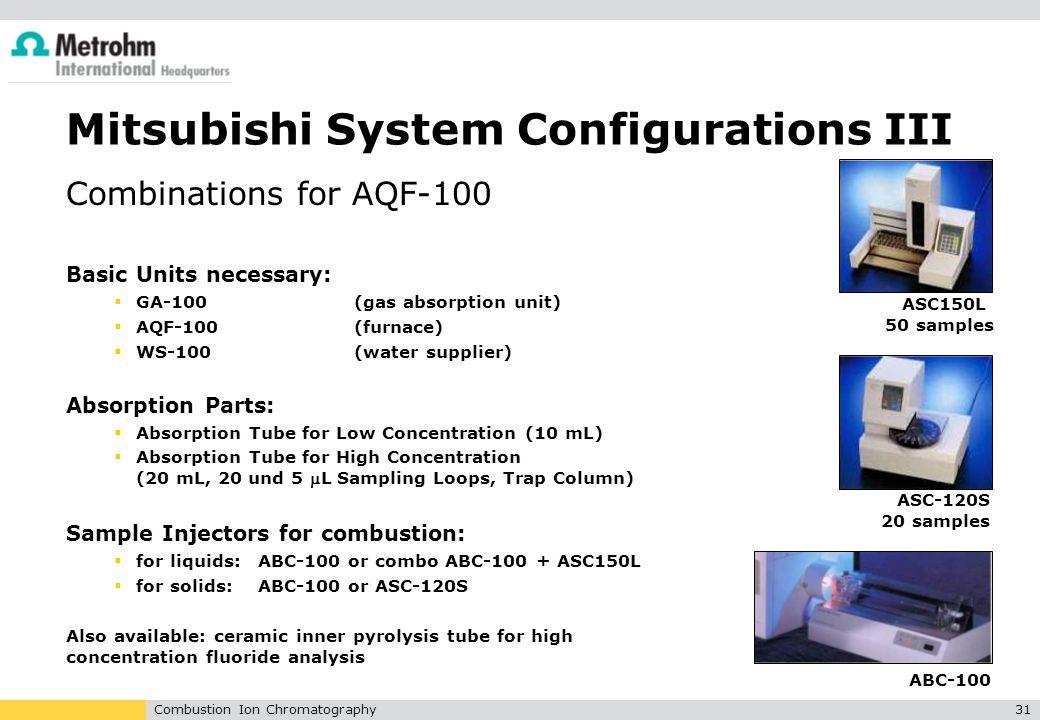 Mitsubishi System Configurations III