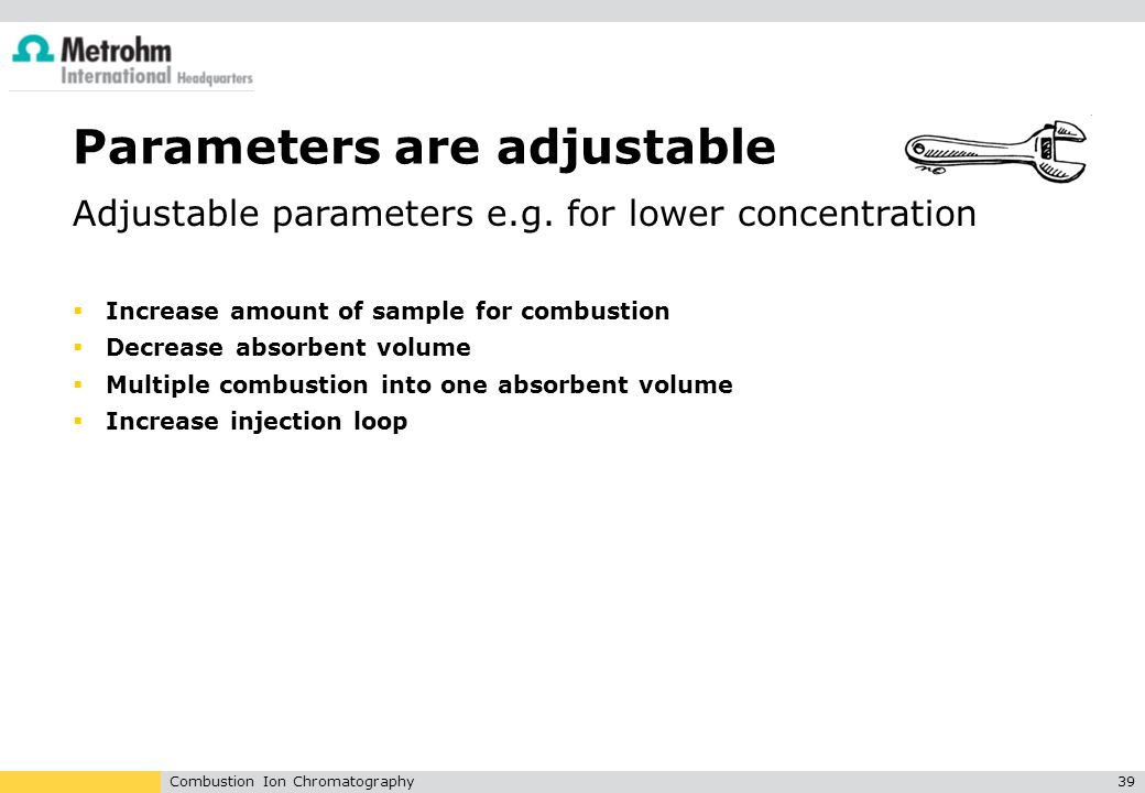 Parameters are adjustable