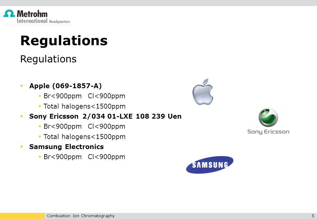 Regulations Regulations Apple (069-1857-A) Br<900ppm Cl<900ppm
