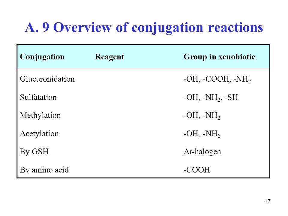 A. 9 Overview of conjugation reactions