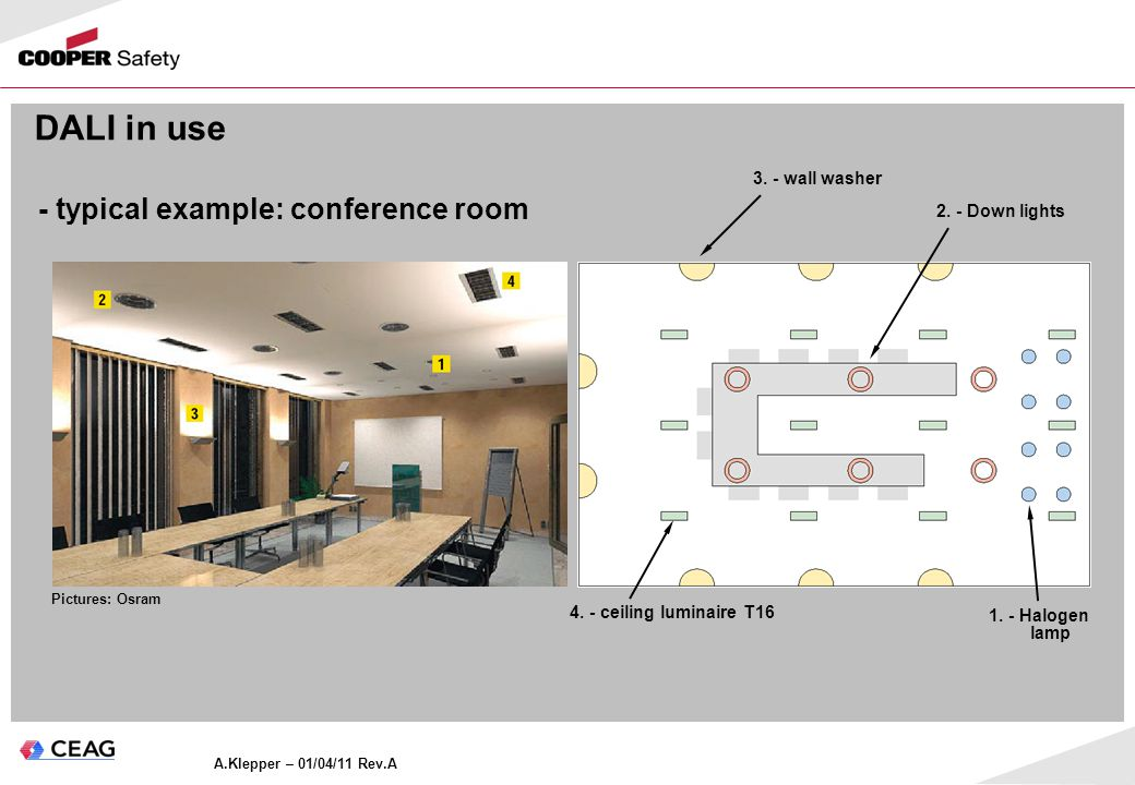 - typical example: conference room