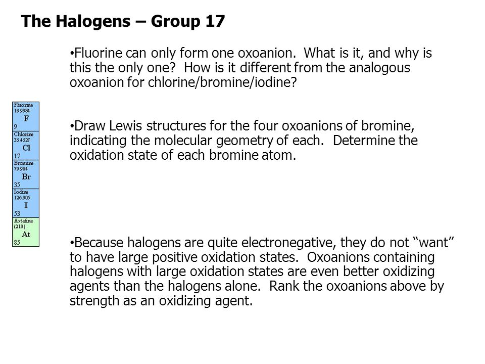 The Halogens – Group 17 What is a halogen? - ppt download