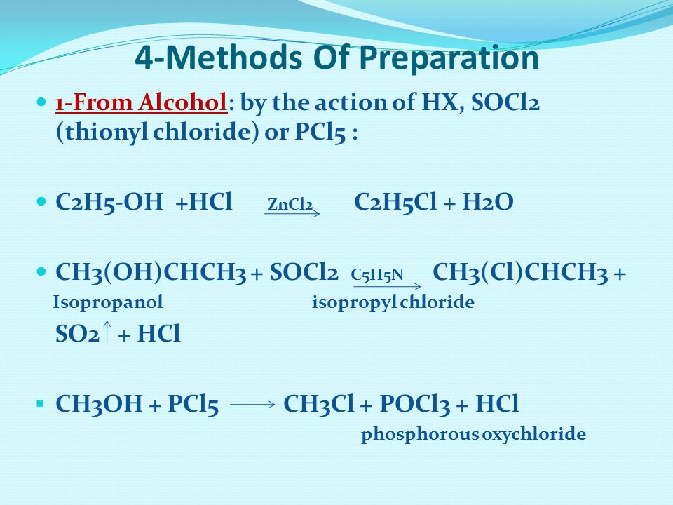 4-Methods Of Preparation