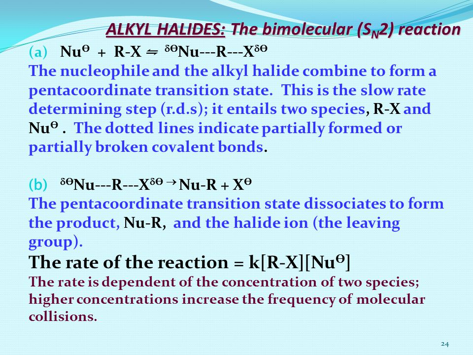 ALKYL HALIDES: The bimolecular (SN2) reaction