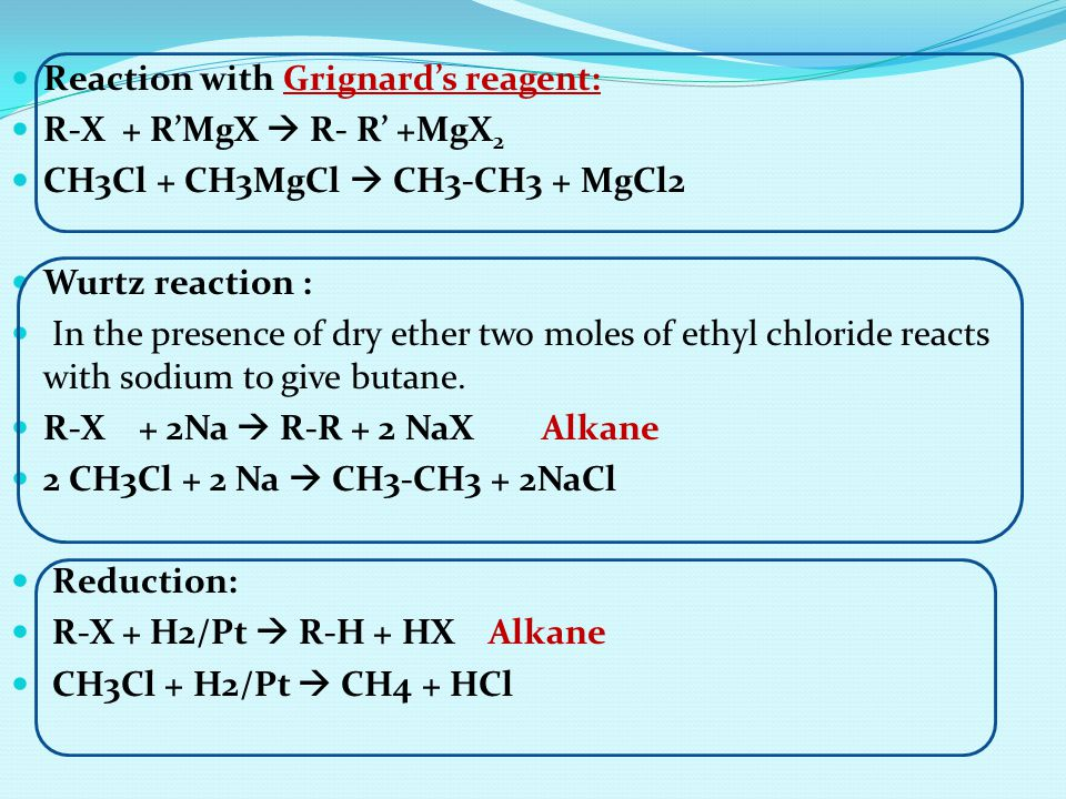 Reaction with Grignard's reagent: