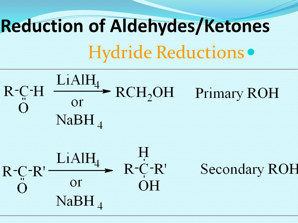 Reduction of Aldehydes/Ketones