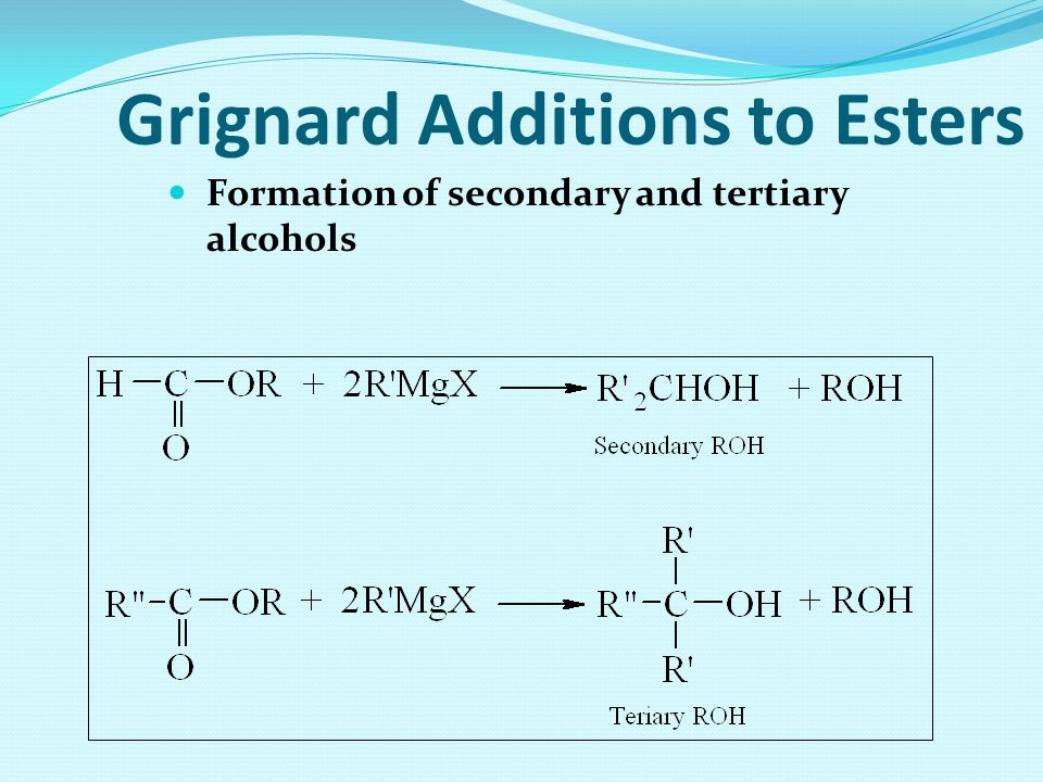Grignard Additions to Esters