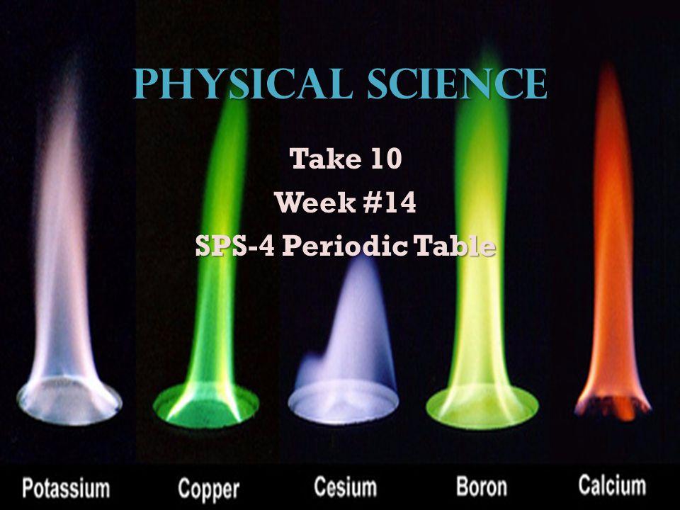 Take 10 Week #14 SPS-4 Periodic Table