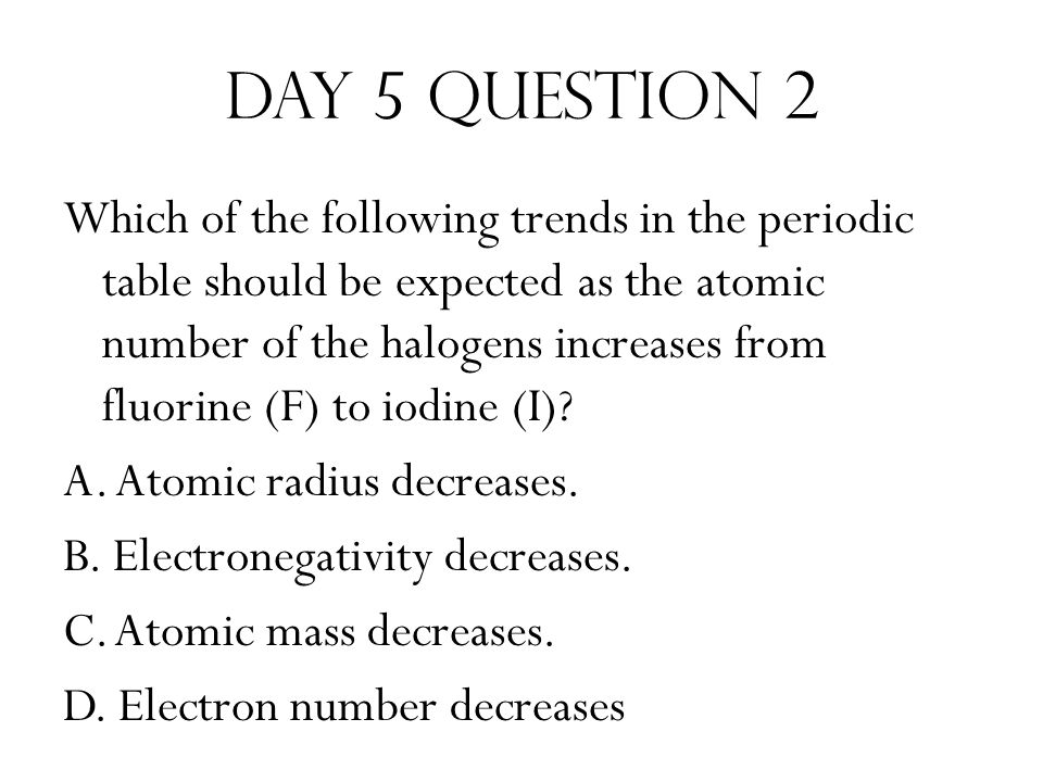 Day 5 Question 2