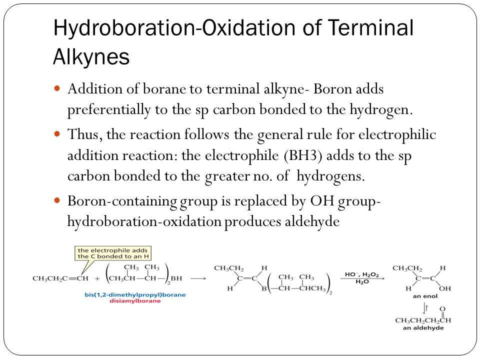 Hydroboration-Oxidation of Terminal Alkynes