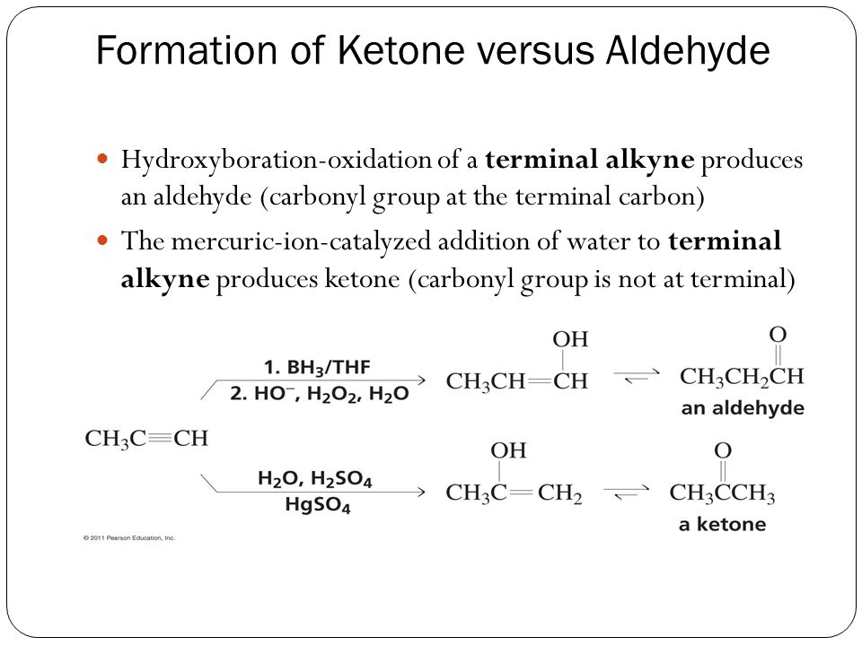 Formation of Ketone versus Aldehyde