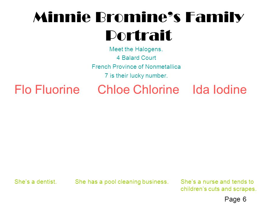 Minnie Bromine's Family Portrait