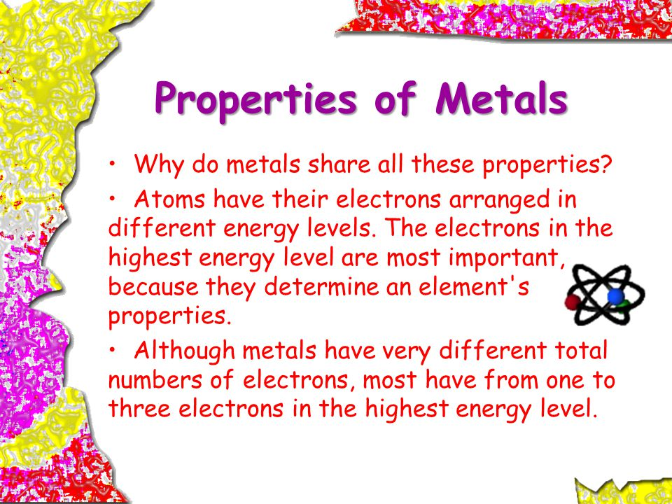 Properties of Metals Why do metals share all these properties