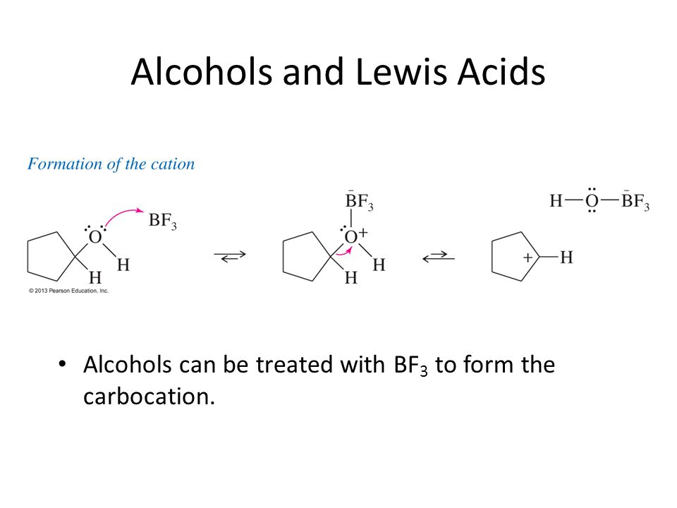 Alcohols and Lewis Acids