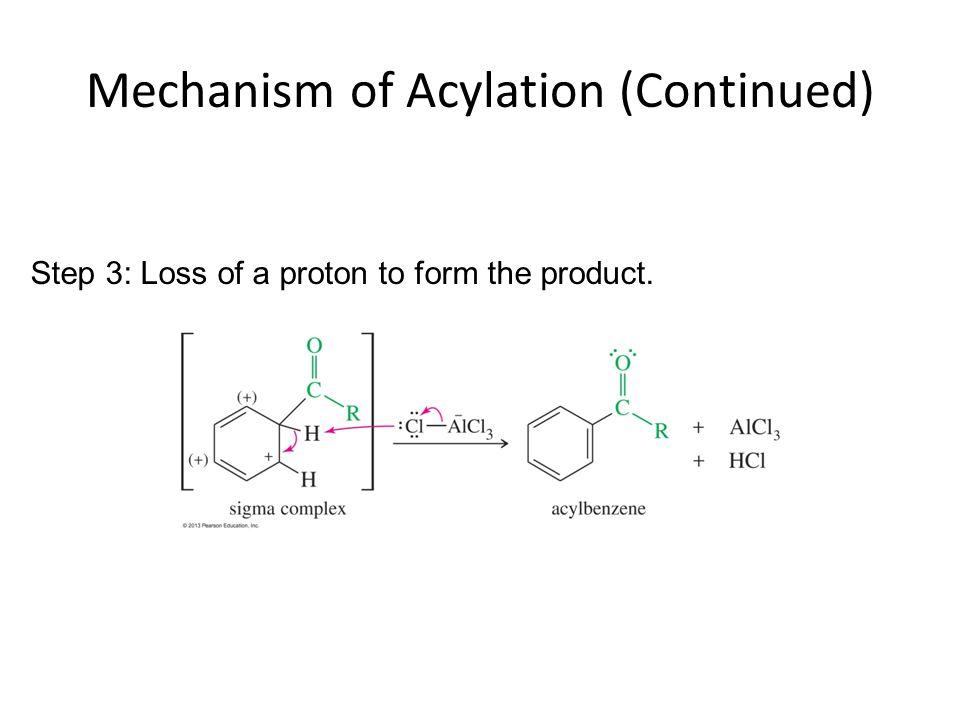 Mechanism of Acylation (Continued)